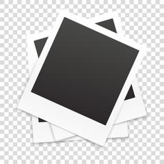 Many retro photo frames isolated on transparent background