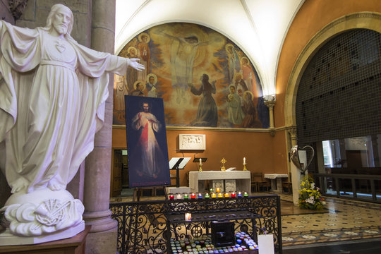 Paray Le Monial, France - September 13, 2016: Inside the chapel of the revelation of Jesus Margaret Mary Alacoque,