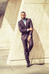 Portrait of Young Handsome African American Businessman