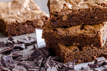 Homemade Double Chocolate Chunk Brownies