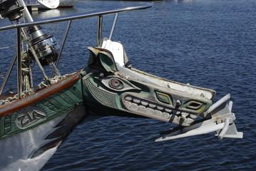 Proue de bateau bois
