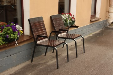 chairs in the street