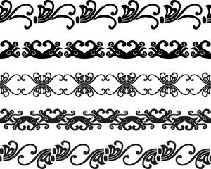 Seamless decorative borders