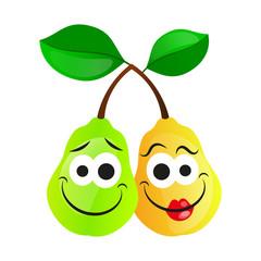 Juicy ripe pear.