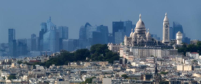 La Défense & la basilique du Sacré Coeur