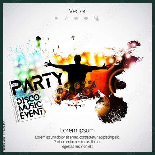 Big Music Event Background For Poster Or Banner Stockfotos Und