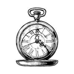 illustration of pocketwatch