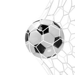 Realistic soccer ball or football ball in neton white background. 3d Style vector Ball.
