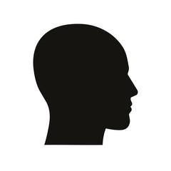 Head icon. Vector.