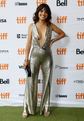 """Morales arrives for the film """"Battle of the Sexes"""" during the Toronto International Film Festival in Toronto"""