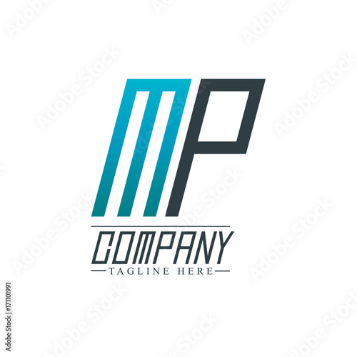 Initial letter mp design logo template stock image and royalty free initial letter mp design logo template spiritdancerdesigns Images