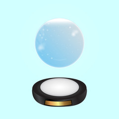 Magical glowing ring background. Vector