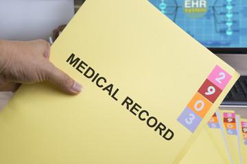 Wall Mural - Medical record folder.