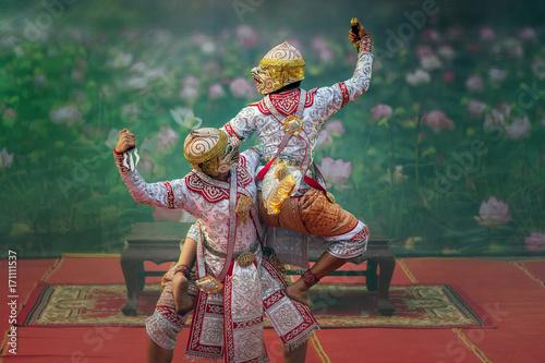 Khon, pantomime performances action of Thailand, a kind of Thai