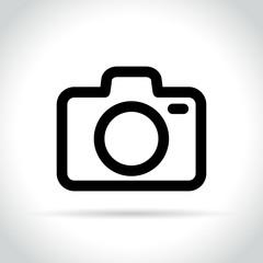 camera icon on white background