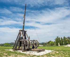 Catapult in Les Baux-de-provence, France