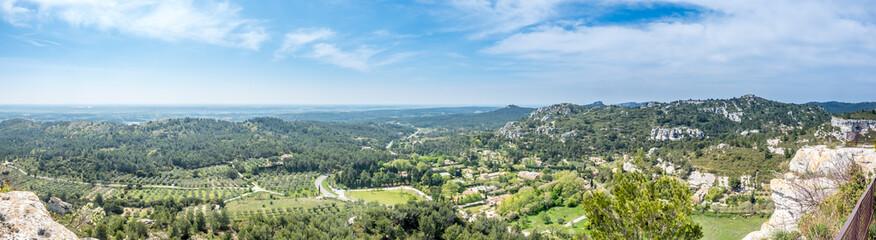 Landscape view from Chateau des Baux-de-provence