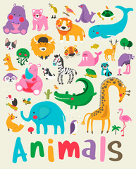 Illustration drawing style of animal