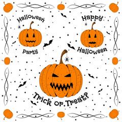 Happy Halloween. Halloween design elements. Vector illustration