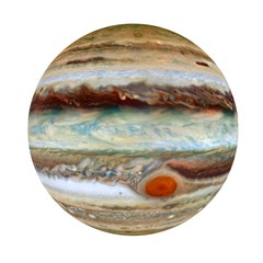 Jupiter - a giant planet in the solar system, 3D rendering, elements of this image furnished by NASA.