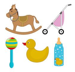 Cartoon Baby Toys Vectors