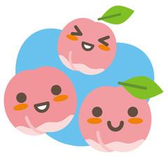 桃の親子(空色)