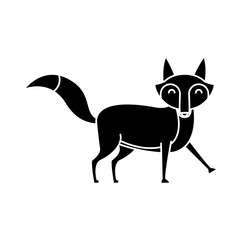 Fox animal cartoon icon vector illustration graphic design