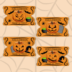 Abstract vector illustration of logo for celebrating holiday Halloween.