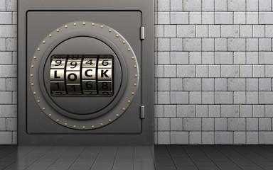3d safe code lock door