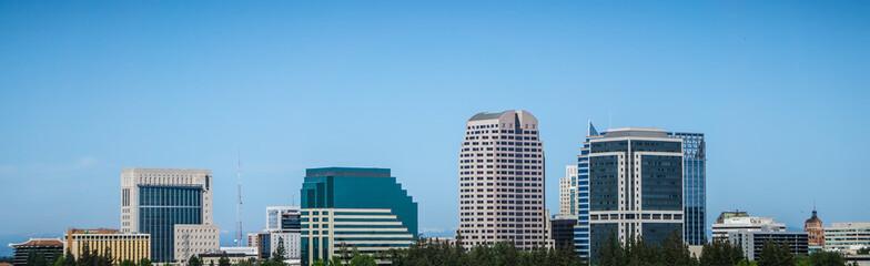 sacramento california cityscape skyline on sunny day