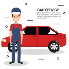 mechanic car service icons vector illustration design