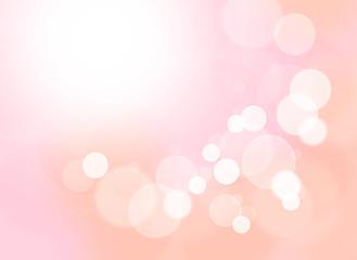 円、ボケ、丸、ピンクの背景