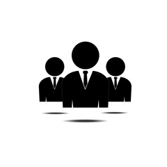 People icon. Group of humans sign. Team work symbol