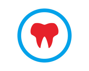 red teeth dental medical healthcare pharmacy hospital clinic icon image vector