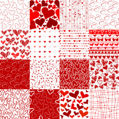Set of patterns for Valentines day