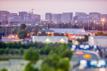 san jose california city lights early morning