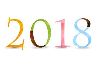 年賀状 カラフル 2018 アイコン
