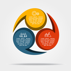 Infographic template. Can be used for workflow layout, diagram, business step options, banner, web design.