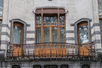 Balcony of the Hotel Solvay