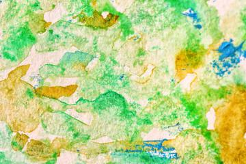 Green watercolor painting, close up