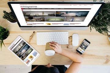 overhead view e-magazine