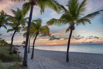 Fototapete - Sunrise on the Smathers beach - Key West, Florida