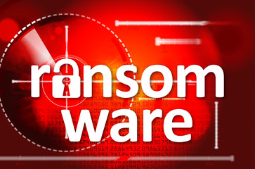 ransomware with padlock