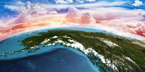 Wall Mural - Alaska. 3D rendering