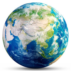 Wall Mural - Planet Earth - Asia 3d rendering