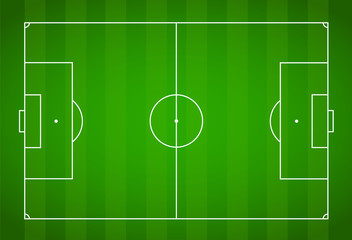 Green grass field background. Vector Football - Soccer Field
