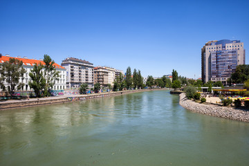 Danube Canal in City of Vienna, Austria