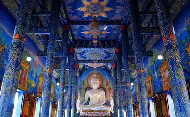 Rong Suea Ten Temple (Blue temple) - Chiangrai, Thailand