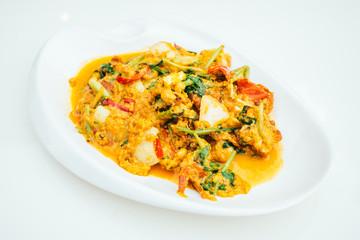 Fried crab curry powder