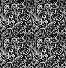 Seamless Floral and paisley Pattern